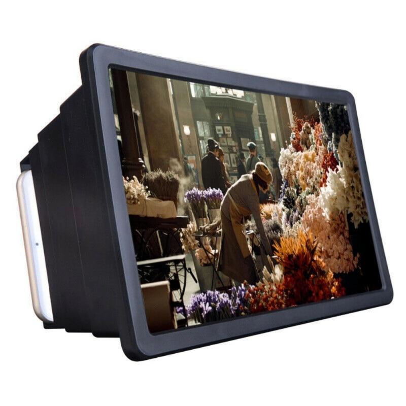 1 lupa de pantalla de teléfono móvil amplificador de vídeo de película 3D HD con soporte plegable amplificador de vídeo de alta calidad