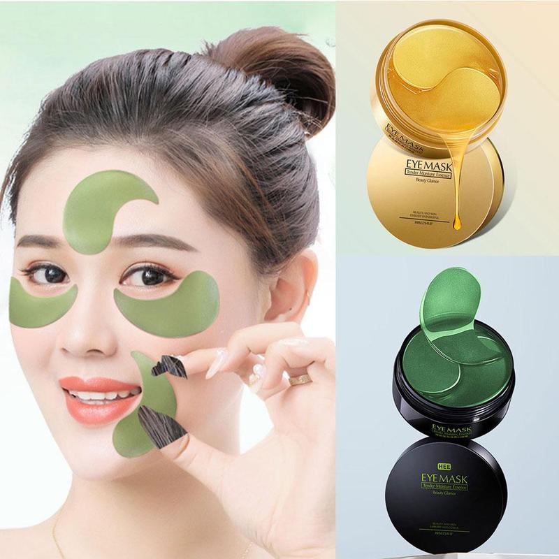 Gold/Seaweed Collagen Mask Natural Moisturizing Gel Eye patches Remove Dark Circles Anti Age Bag Eye Wrinkle Skin Care