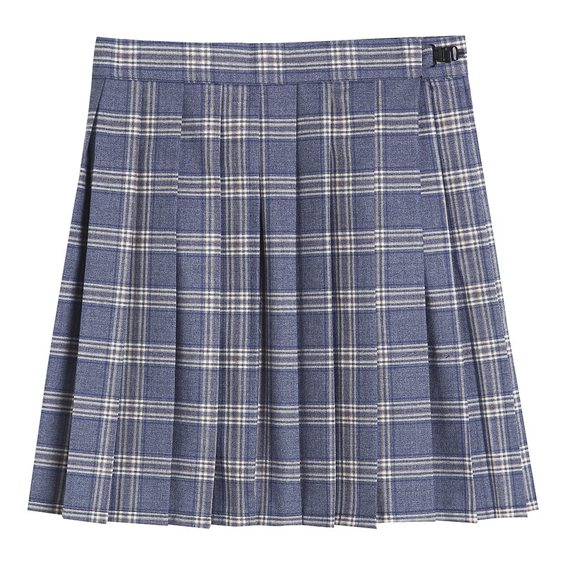 Pleated Skirt 2020 Autumn New Japanese College Style Light Blue Pleated Plaid Skirt JK Uniform Skirt japanese collection jk skirt pleated skirt lattice skirt cute pleated half body women s short jk uniform sweet lolita dress