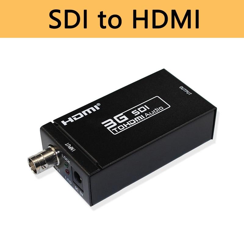 Mini 3G convertidor SDI a HDMI BNC al adaptador HDMI apoyo HD-SDI/3G-SDI 1080p muestra en pantalla HDMI envío gratis