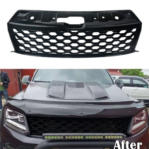 Modified For Amarok Aventura Exclusive V6 2016 2017 2018 2019 2020 Modified Front Racing Grille Grills Abs Bumper Trims Cover