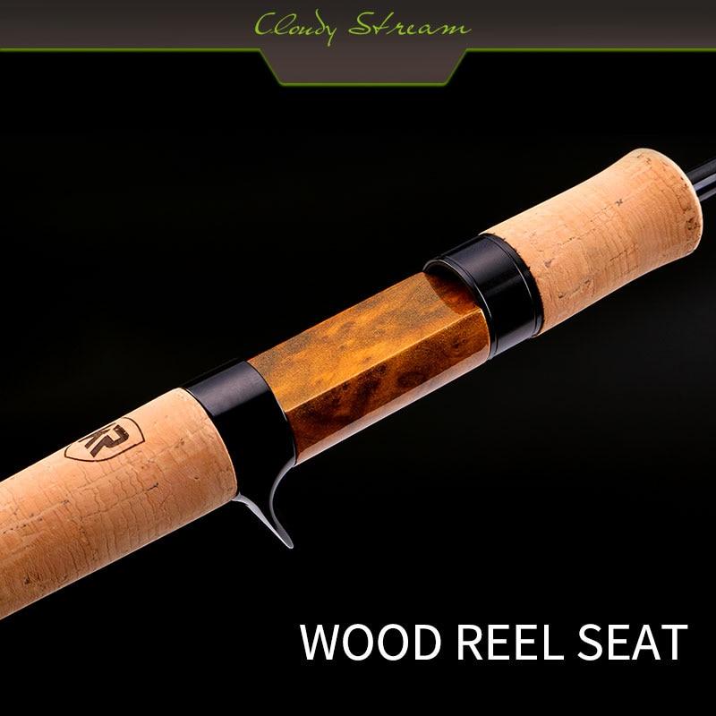 Kyorim CLOUDY STREAM TROUT ROD 2 sections 492/532 FUJI-ALCONITE GUIDE RETRO WOOD WHEL SEAT enlarge