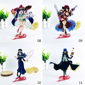 Anime Fairy Tail Acrylic Stand Model Toys two-sided Action Figure Pendant toy gift