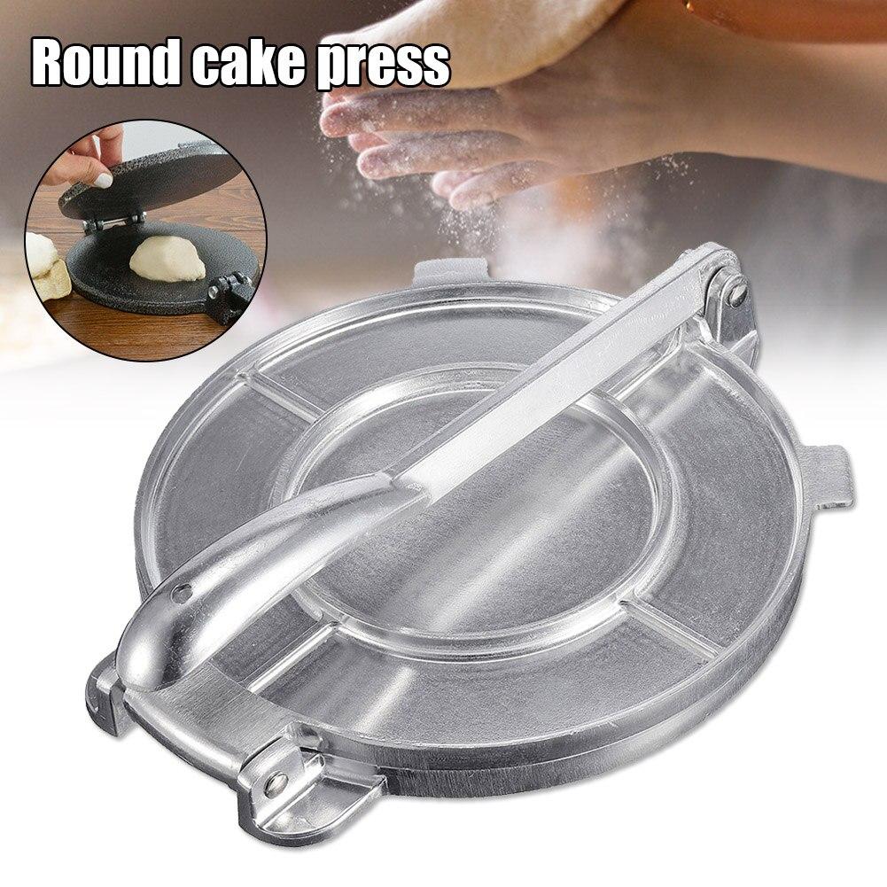 Prensa de Tortilla de aluminio fundido de 8 pulgadas, máquina de prensa de Tortilla de harina, herramienta de cocina JS23