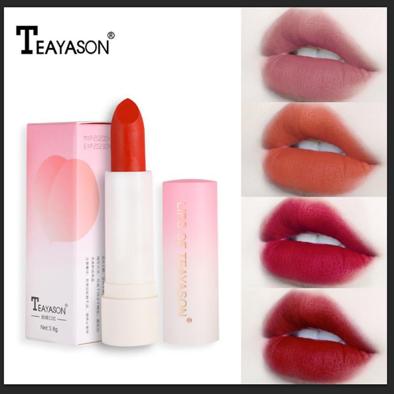 1PC Female Retro Red Peach Velvet Lipstick Long Lasting Waterproof Matte Women Lip Matte Lipstick Ma