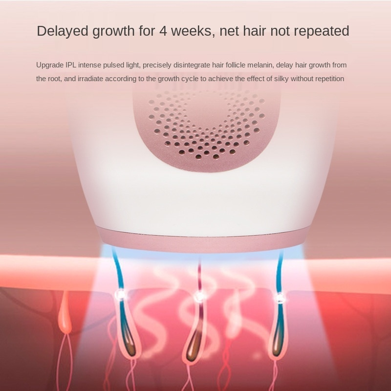 Laser hairdresser  photon freezing skin beauty instrument home private body universal freezing hair peeler enlarge