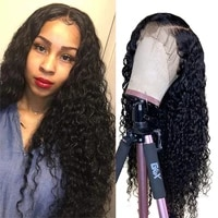 deep wave wig lace front human hair wigs pre plucked human hair wig for women malaysian curly wigs remy frontal lace wig