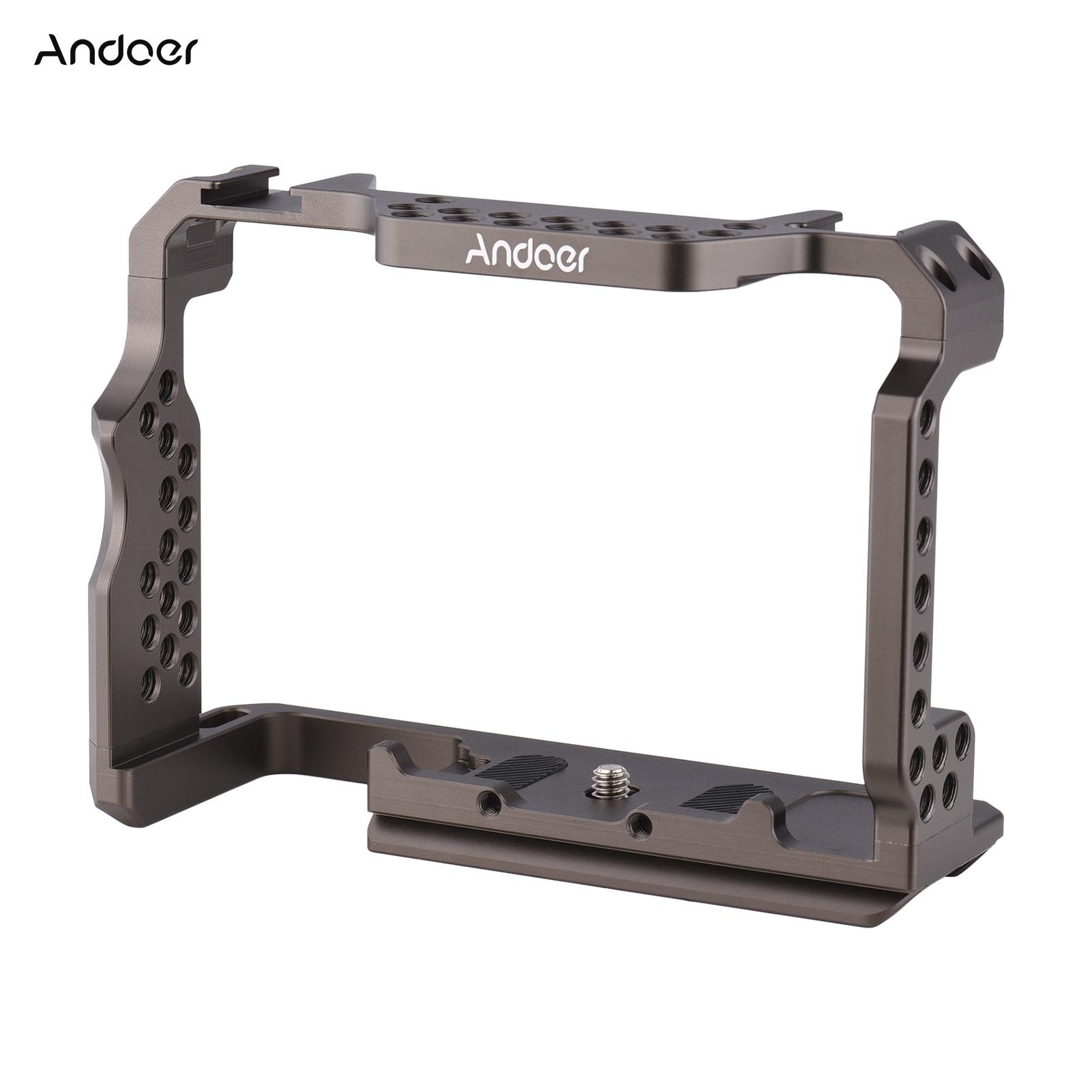 Andoer سبائك الألومنيوم هيكل قفصي الشكل للكاميرا فيديو تلاعب استبدال لسوني A7R III/ A7 II/ A7III هيكل قفصي الشكل للكاميرا