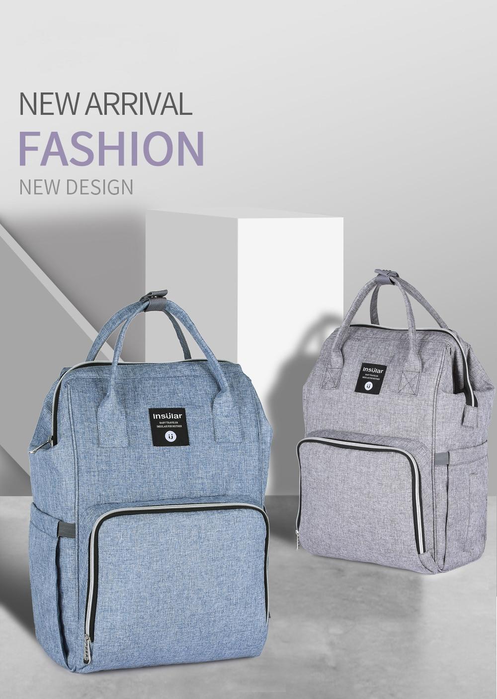 Новый Многофункциональный модный рюкзак с двойным плечом для мамы большая емкость товары для матери и ребенка водонепроницаемый рюкзак дл...