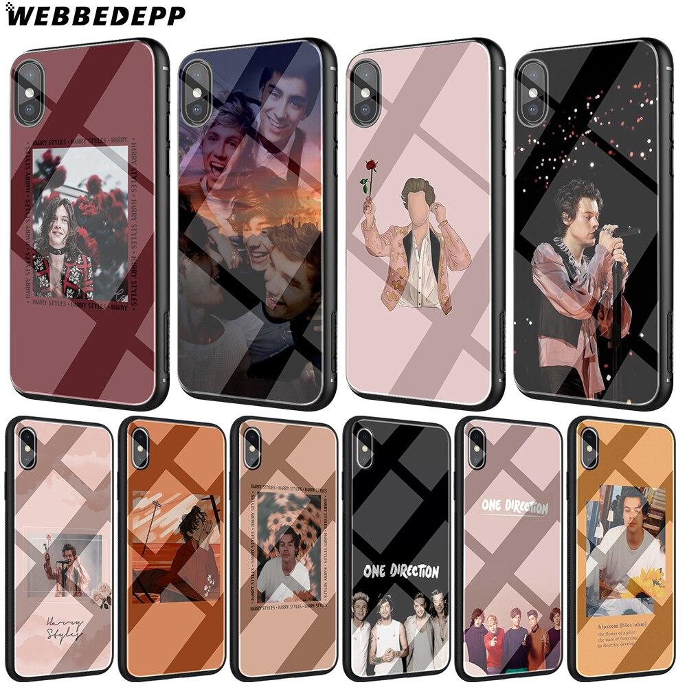 WEBBEDEPP, estilos Harry, funda de TPU de cristal templado de una dirección para iPhone XS Max XR X 8 7 6 6S Plus