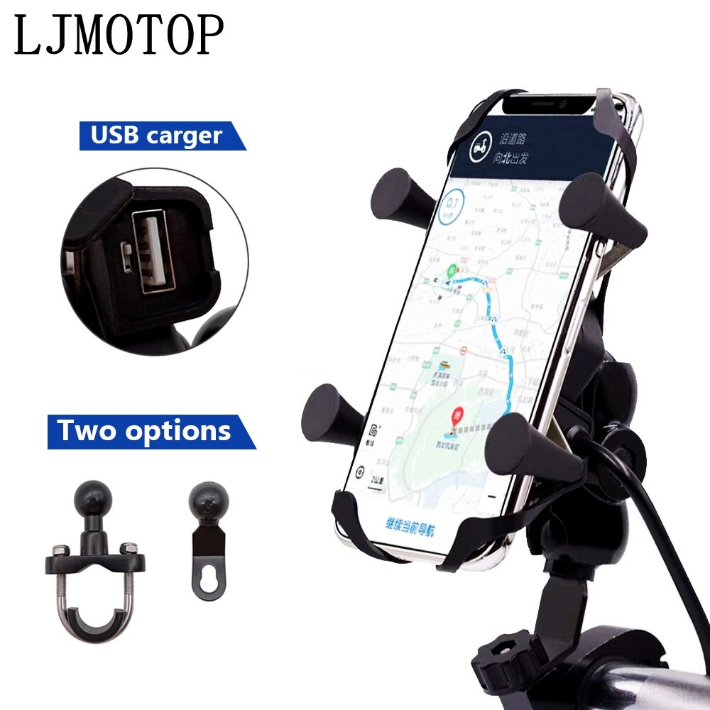 Заряжаемый держатель для телефона мотоцикла GPS проводное Универсальное крепление USB для YAMAHA YZF R3 YBR 125 YZF R15 XT660/X/R/Z TMAX 500/530