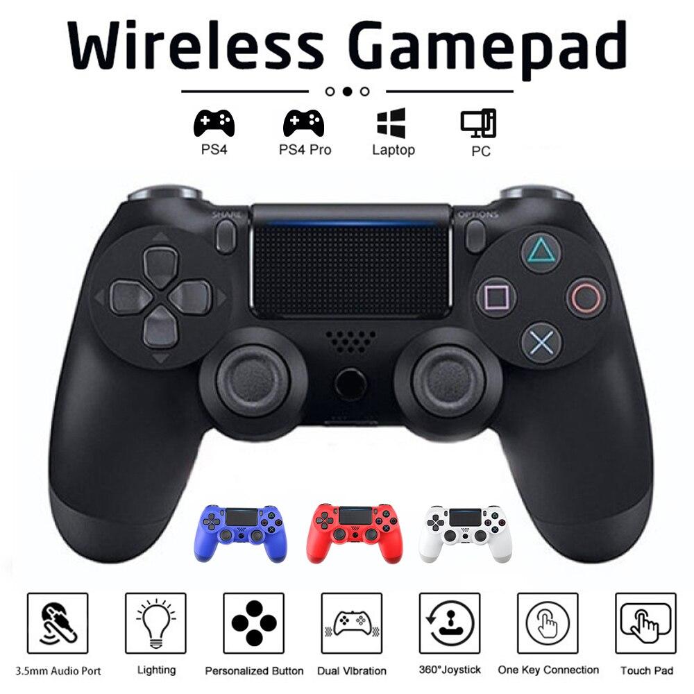 المقود PS4 أداة تحكم في الألعاب لاسلكية لسوني تحكم بلوتوث الاهتزاز غمبد ل PS4 وحدة التحكم