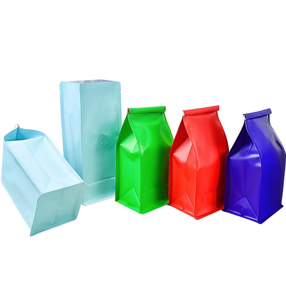 100 قطعة أكياس القهوة الملونة 500g مع صمام و حقائب ورقية رقائق الألومنيوم داخل لحبوب القهوة