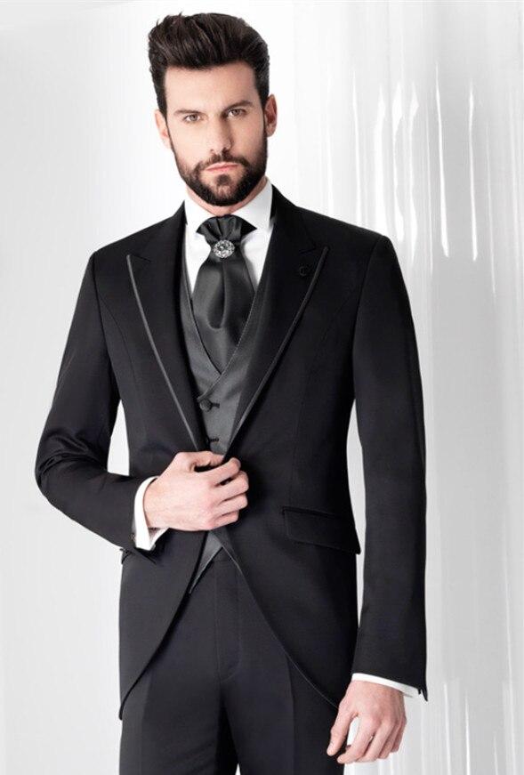 Модный женский галстук на одной пуговице с заостренным лацканом, 3 шт. (галстук-жилет для куртки), высококачественный Официальный Мужской га...