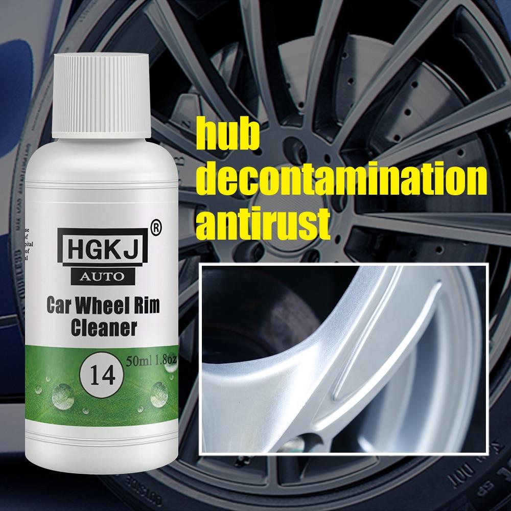 2PCS Car Accessories HGKJ-14 50ml Add 5 times more water = 120ml Portable Car Rim Care Wheel Ring Cl