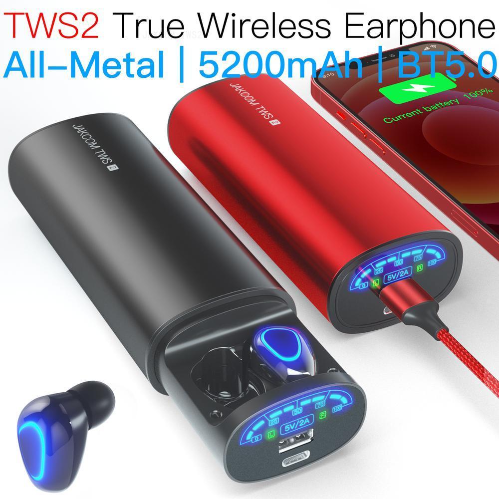 JAKCOM TWS2 True Wireless Earphone Power Bank Best gift with cuffie pro case cover air headphone handfree bone