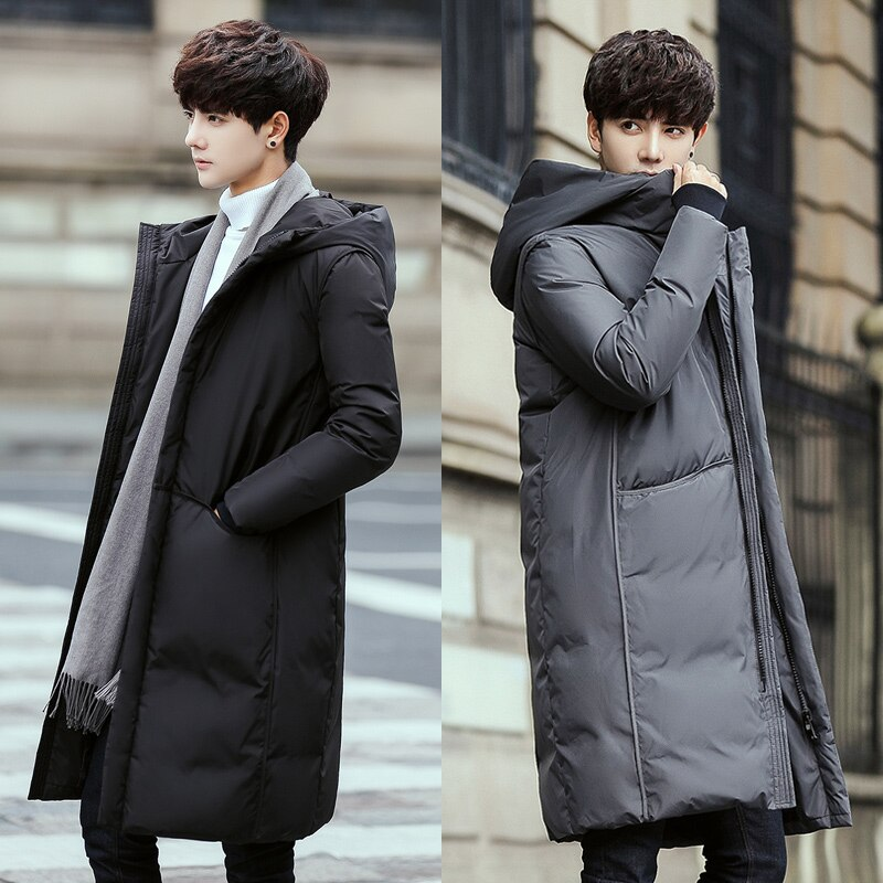 New Down Jacket Men 's Winter New Korean Style Young And Middle-Aged Pure Color Thickened Coat