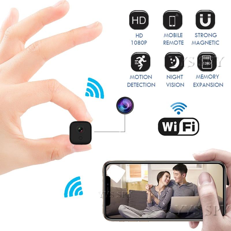 كاميرا صغيرة عالية الدقة تعمل بالواي فاي 1080 بكسل ، رؤية ليلية ، كشف الحركة ، P2P IP ، كاميرا فيديو سرية ، مسجل فيديو ، دعم بطاقة TF المخفية