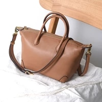 bolsos mujer cowhide dumpling bag soft leather leather simple and fashionable all match portable messenger womens shoulder bag