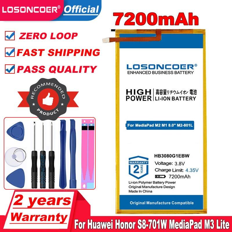 "HB3080G1EBC HB3080G1EBW S8 batería para Huawei Honor S8-701W MediaPad M3 Lite M2 M1 8,0 ""M2-801L M2-801W M2-802L M2-803L S8 701u"