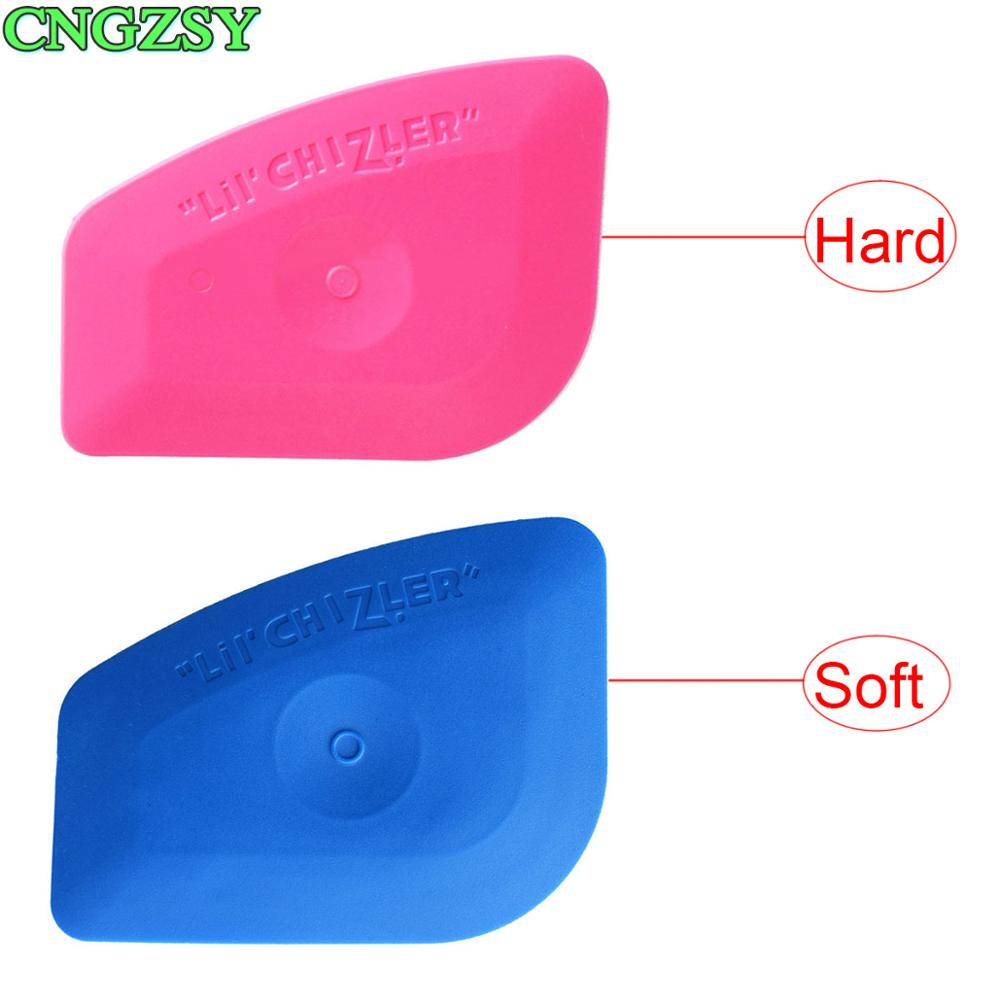 Escurridor de plástico rosa azul Lil Chizler, aplicación para calcomanías y gráficos, aplicaciones de pared, esquinas de vinilo, fácil extracción A25 A25B