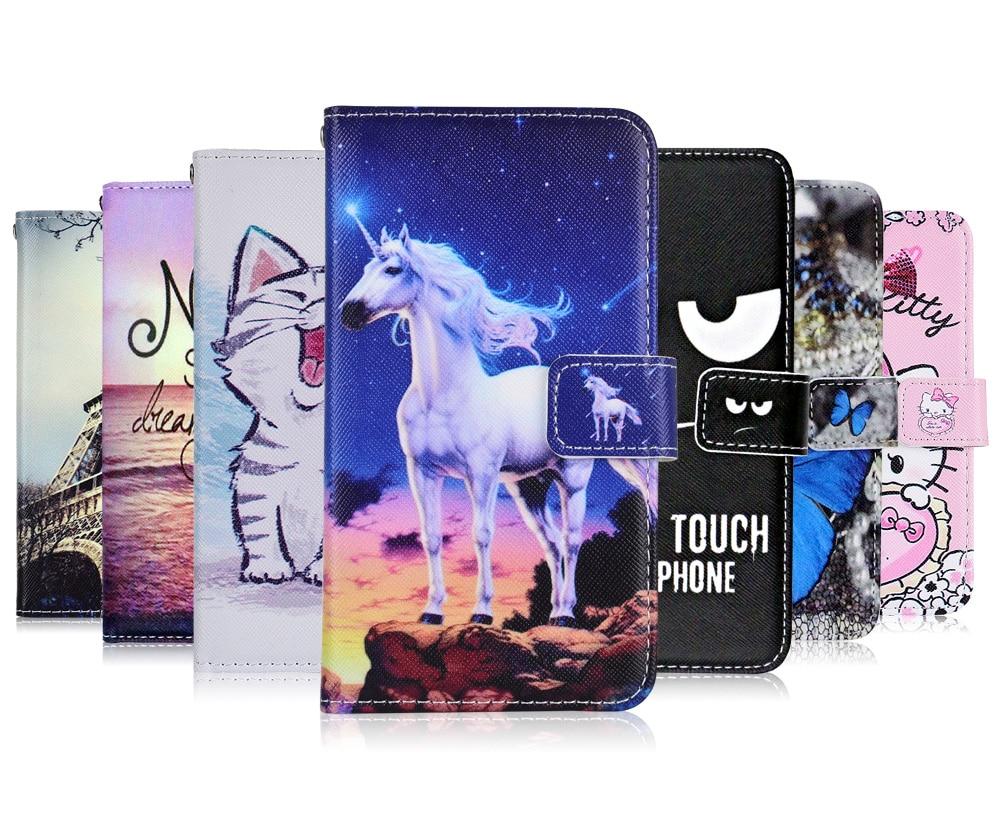 Sobre Irbis SP541, funda de gato con diseño de mariposa, funda de billetera de dibujos animados para Irbis SP541, Funda de cuero con diseño de unicornio, bolsa de móvil para libros