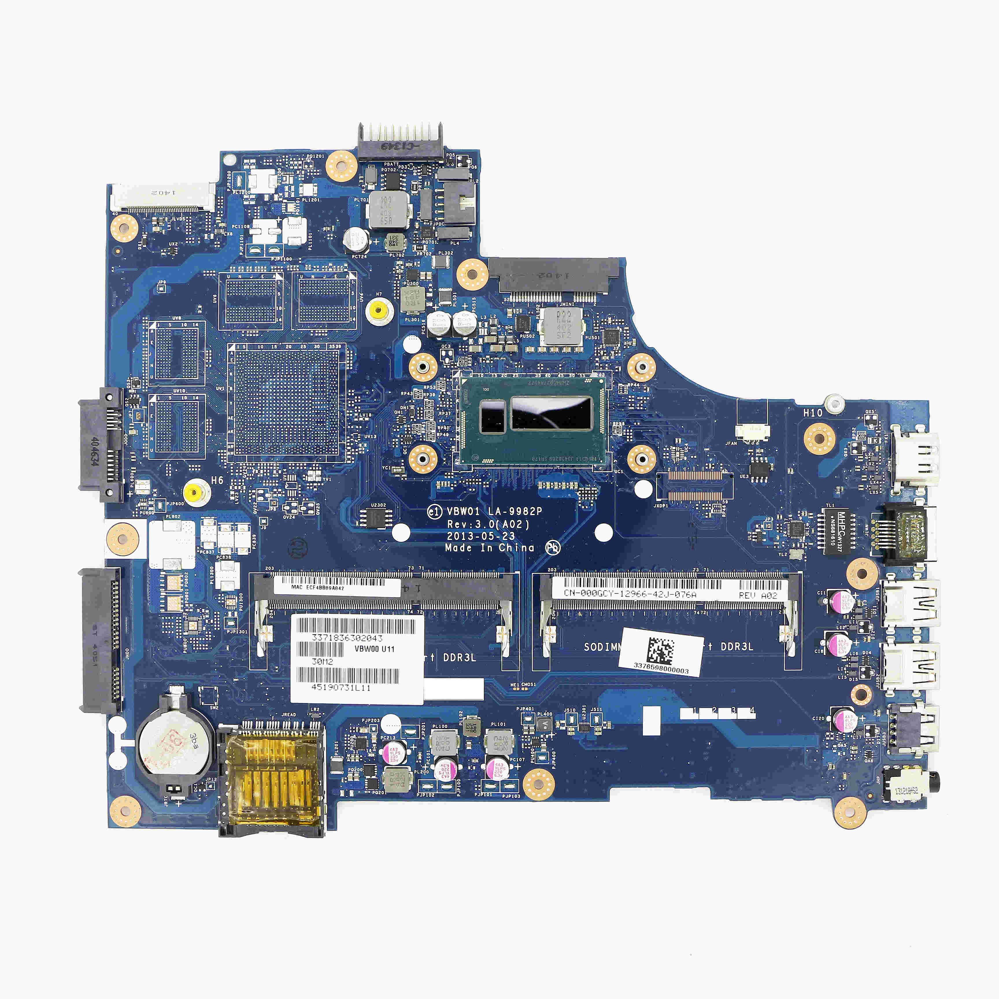 00GCY - UMA اللوحة VBW01 LA-9982P w/ i5-4200U 1.60GHz ل انسبايرون 15R (5537) / 15 (3537)