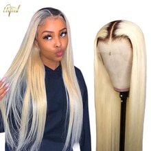 1B/613 Ombre Wig 613 Blonde Straight Wig Malaysian Transparent Lace Human Hair Wigs For Black Women