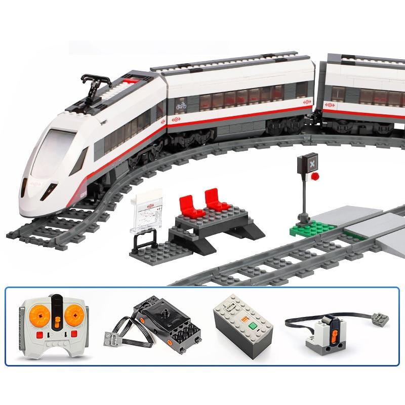 The High-Speed Passenger 659pcs Compatible 60051City Train Building Blocks Bricks Kids DIY Toys Gifts