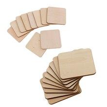 Plateau en bois de 20 pièces   MDF carré ornement de décoration, pièce artisanale de bricolage-60mm/50mm