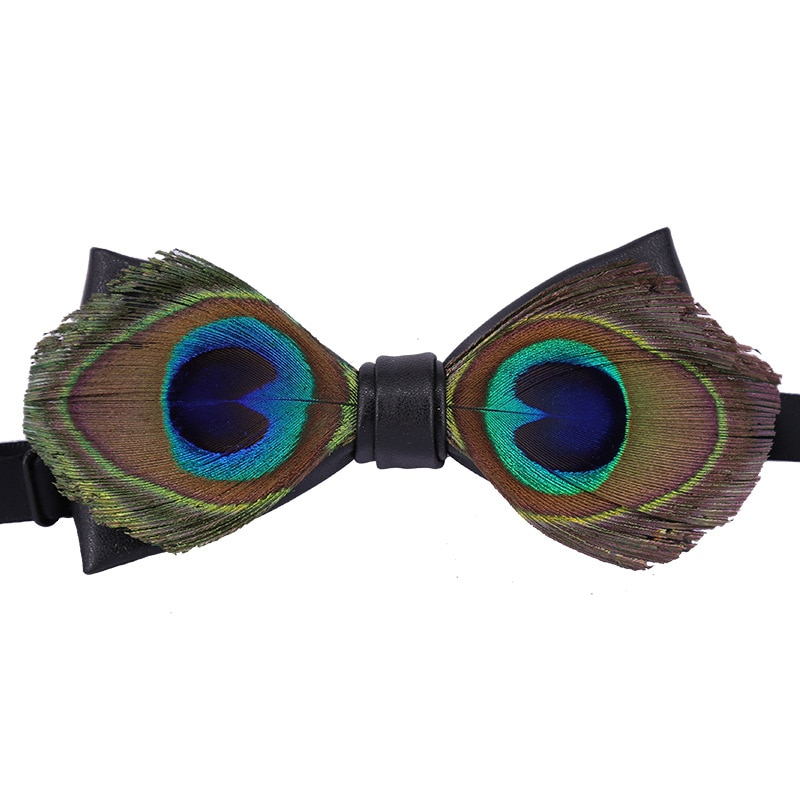 Fashion Mens Ties Set Peacock Feather Steampunk Accessories  Mens Knit Ties  Bow Tie for Men