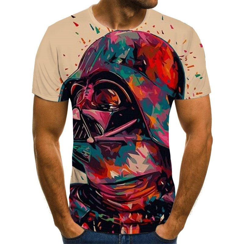 Summer men's clothing 3D printing color t-shirt fashion t-shirts cool color t-shirts/street menswear 2021 best