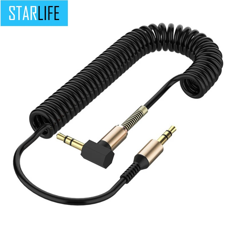 Car Audio Cable 3.5mm Male to Male Cord Jack Aux Cable for iPhone 6/ Samsung Galaxy s8/ Headphone/ X