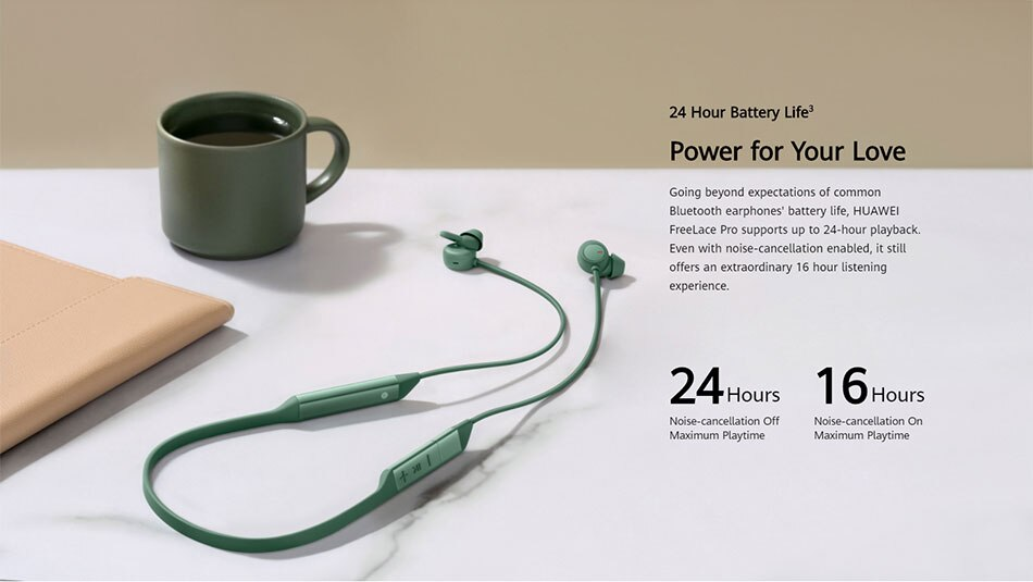 Original Huawei FreeLace Pro Wireless Earphones, Genuine Dual-Mic Active Noise Cancellation Bluetooth In-Ear Headphones headset