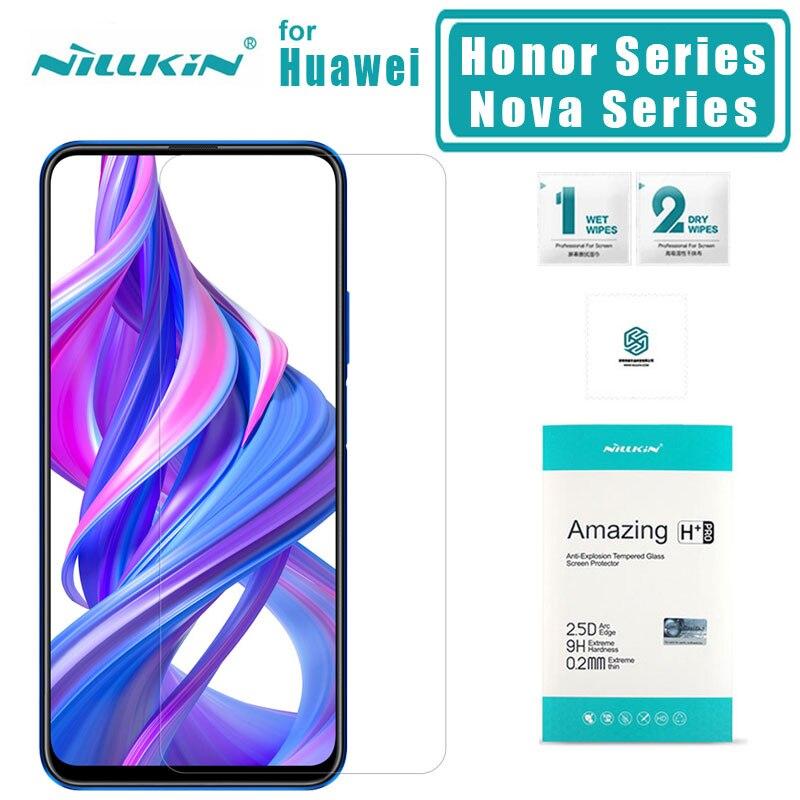 Nillkin para Huawei Honor 9X Pro 9X20 Pro 20 10 9 8 de templado de vidrio de H + PRO protector de pantalla para Huawei Nova 5i Pro 5 4 vidrio