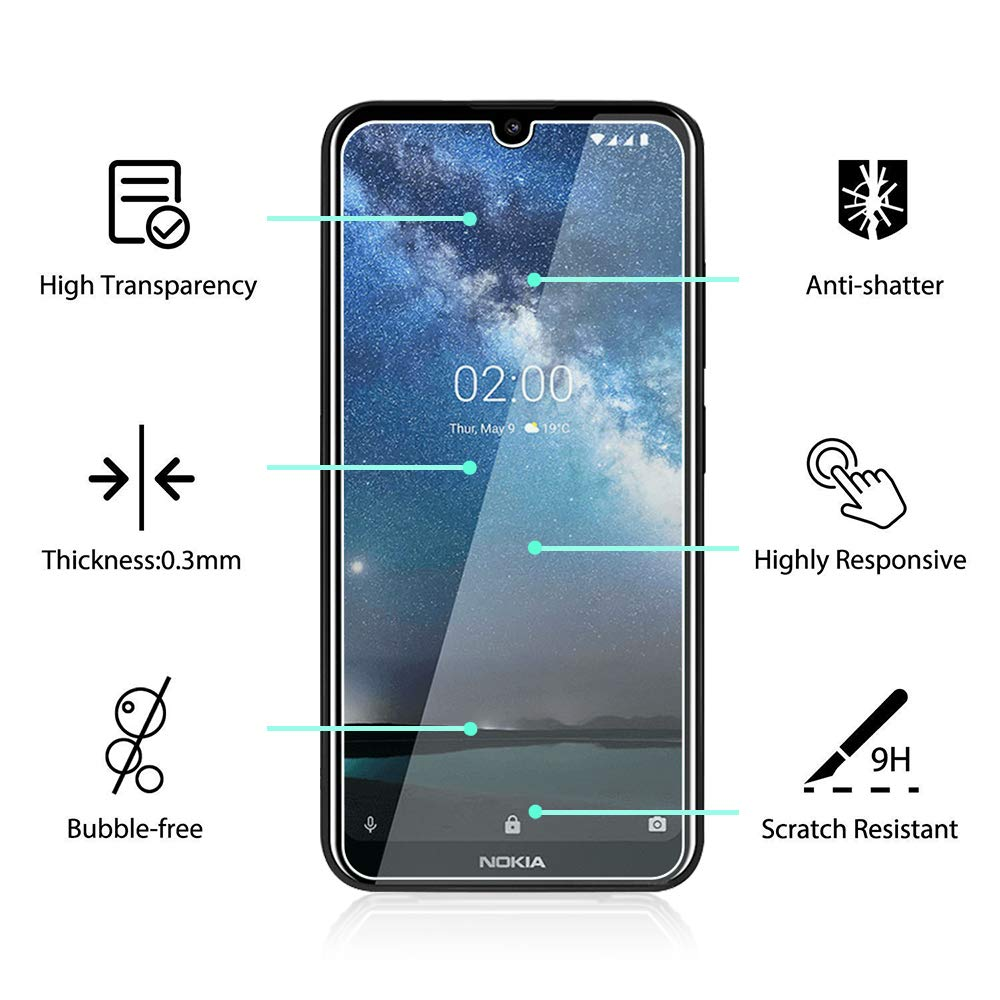 Tempered Glass for Nokia 2.2 3.2 4.2 Screen Protector For Nokia 2.2 3.2 4.2 Hard 9H