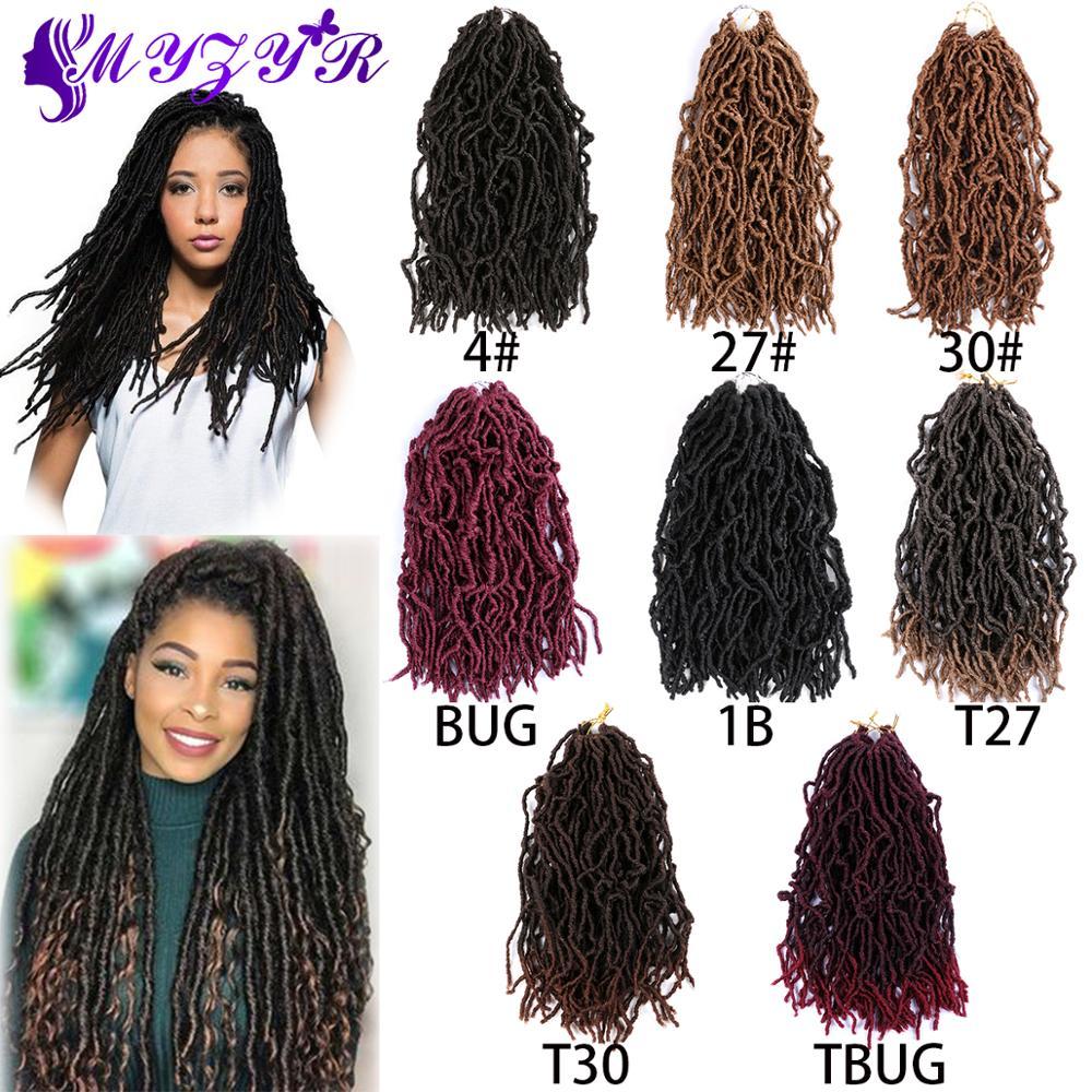 ZYR Nu Locs Crochet Hair Synthetic Crochet Braiding Hair High Temperature Fiber Ombre Wigs For Women