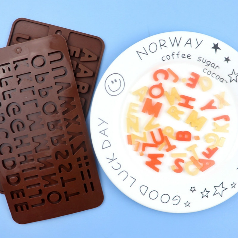 1 Pc Hot Sale New Arrival Diy Silica Gel Mould 26 Grids English Letters Chocolate Cake Mold Baking Tools
