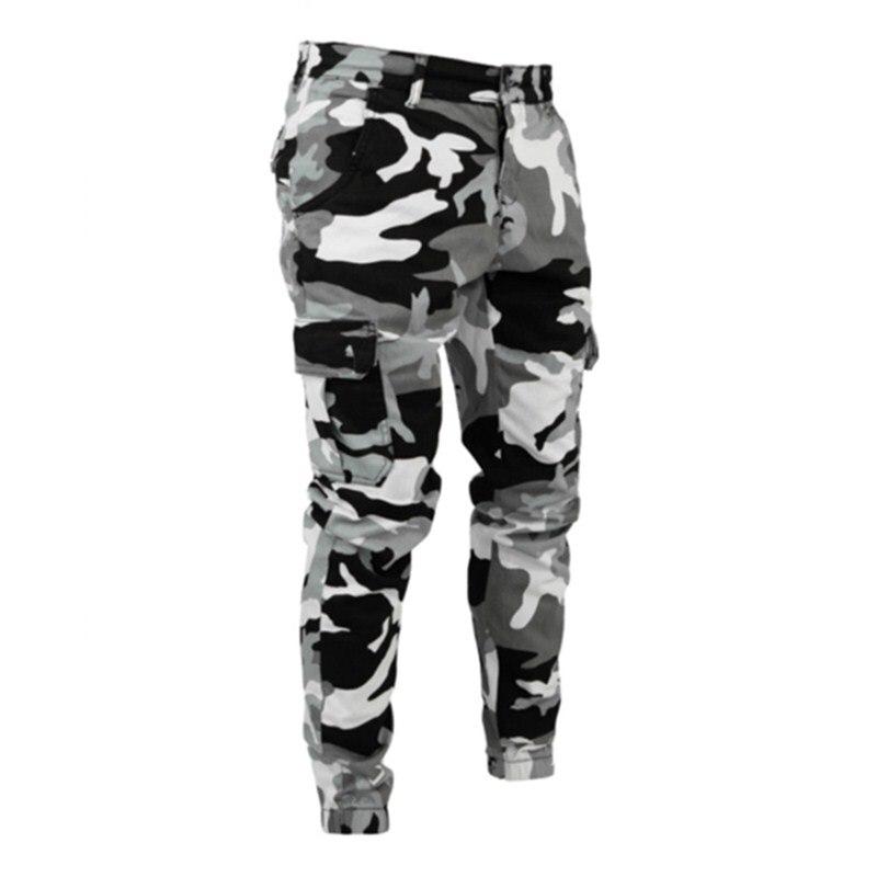 Камуфляжные облегающие джинсы в стиле милитари 2021, мужские брюки-карго с принтом и множеством карманов, мужские удобные камуфляжные повсед...