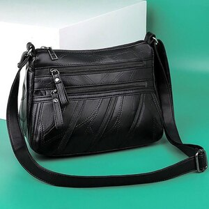 PU Leather Women's Shoulder Bag Large Capacity Shopping Travel Crossbody Bags For Women Casual Solid Lady's Bag