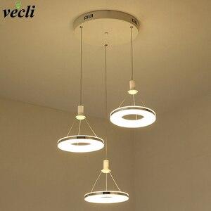 Modern Nordic Pendant Light 36w circular LED Hanging Lamp for Dining Room Hotel Bedroom Kitchen Lighting Fixtures