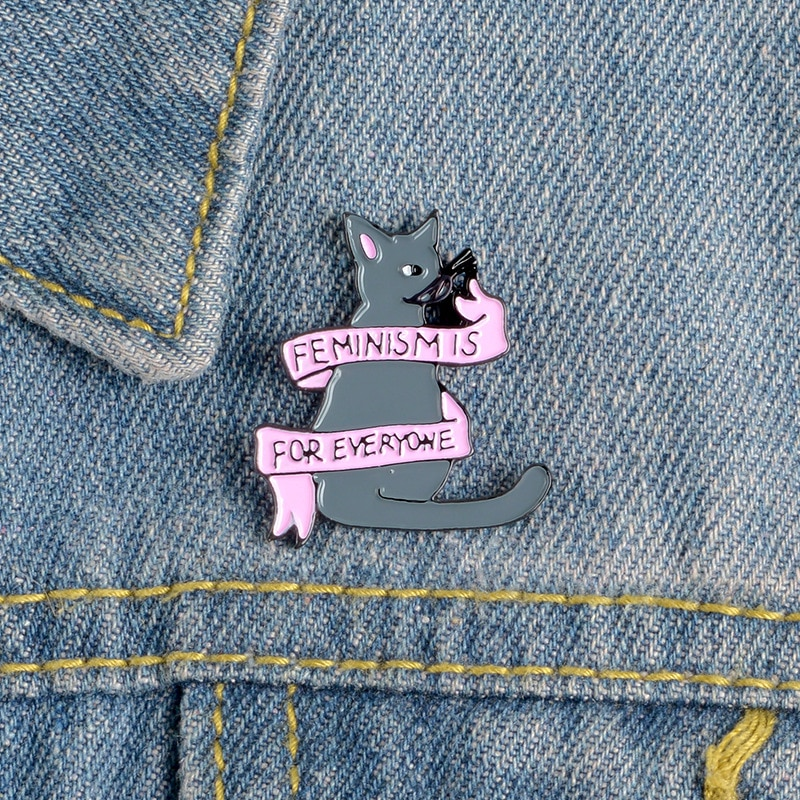 Cute cartoon cats series metal pin black and white stars strawberry well-being love letter ribbon cat lively funny animal brooch  - buy with discount