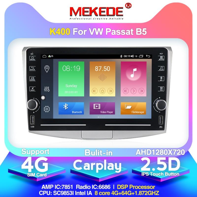 MEKEDE K400 Android 10.0 4G For Volkswagen VW Passat B6 B7 CC Magotan 2011-2015 Car Radio Multimedia Video Player Navigation GPS