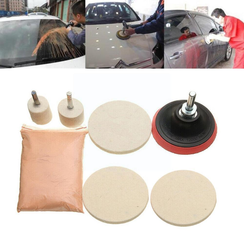 Practical Car Windshield Polishing Kit For Car Windows Scratch Glass Repair Scratch Polishing Set Kit Remover Tool Z4Y3 ossieao new watch glass polishing kit glass scratch removal set acrylic sapphire crystal