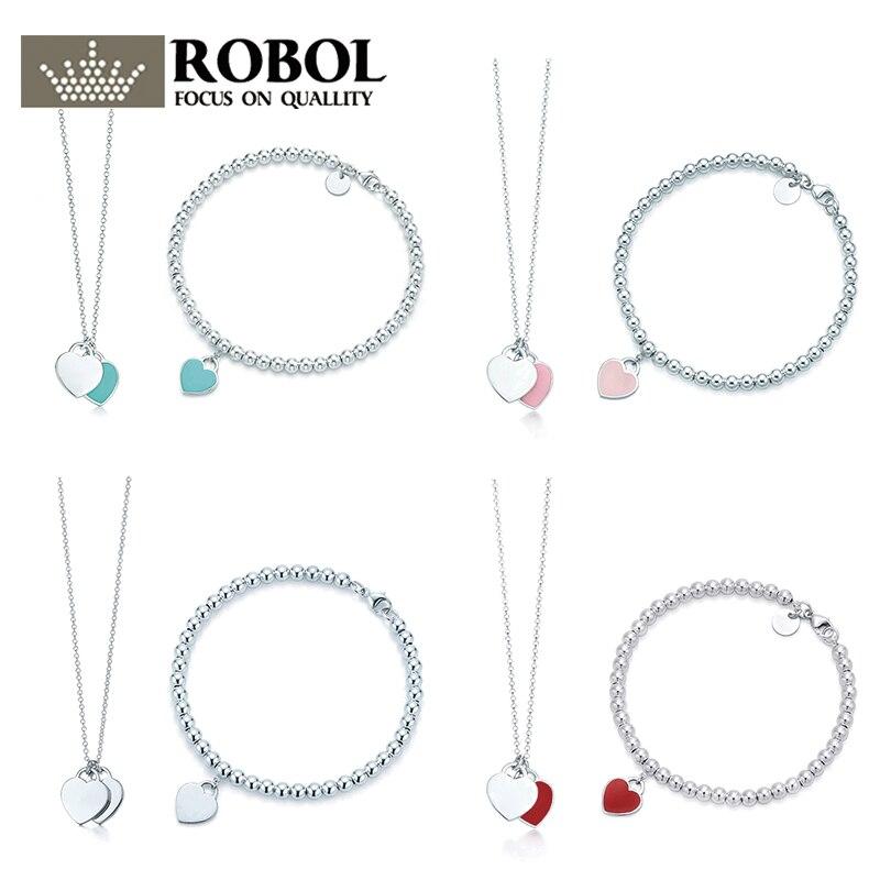 SL TFB TTFF RLLEN calidad Original elegante DIY collar pulsera conjunto Multicolor opcional joyería de las mujeres envío gratis