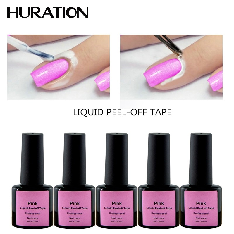 Huration Peel-off Tape Skin Care Latex Cuticle Nail Gel Polish Liquid UV Lamp Tape Defender Cuticle Coat Nail Art Gel Varnish