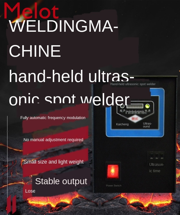 Factory Direct Handheld Ultrasonic Welding Machine Spot-Welder Output Stable 600W/28KHz enlarge