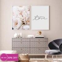 Toile de decoration de noel  affiches de peinture  fleurs de pivoine roses  tableau dart mural pour decoration de salon  decoration de maison