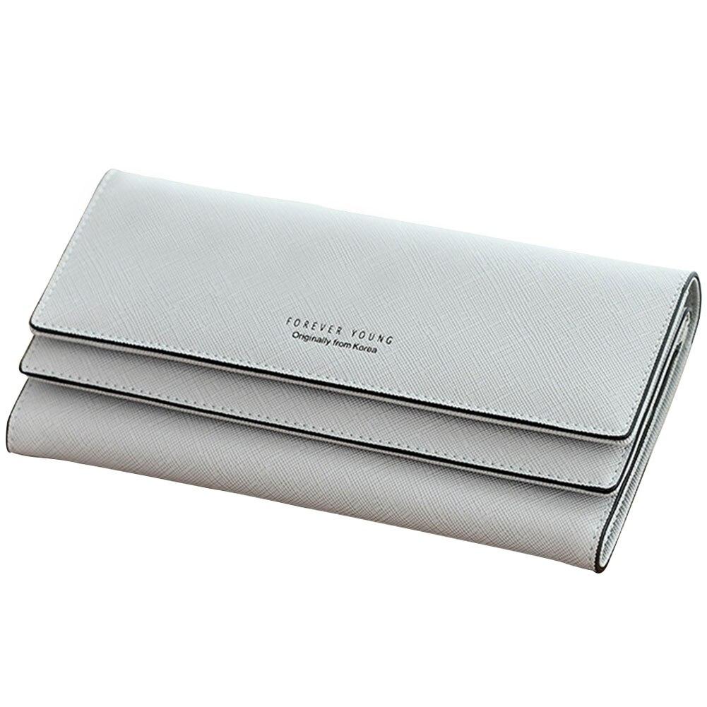 Multi-slot para Cartão Multifunction Grande Capacidade Bolsa Longo Tri-fold pu Carteira Organizador Moeda Bolso