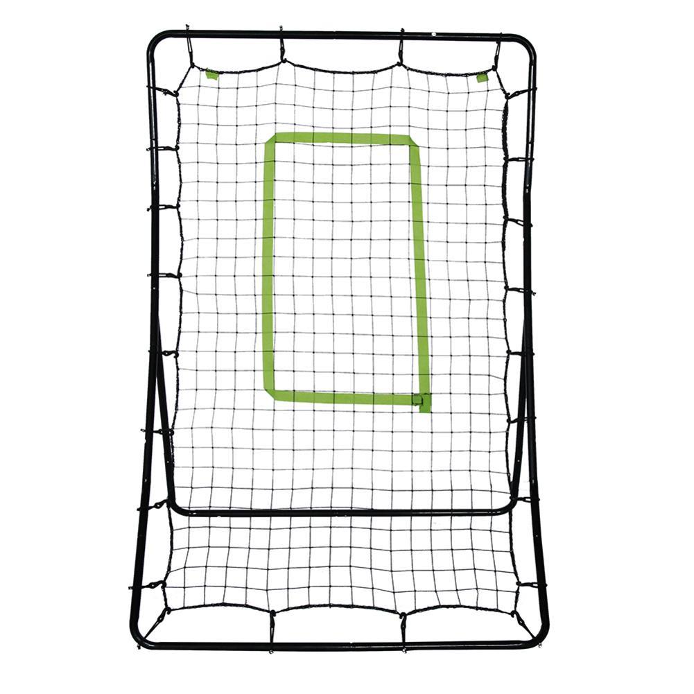Teenager Baseball Train Net Rack Rebound Goal Green Target Radius & Black Baked Iron Pipe Baseball Sports Practice Accessories